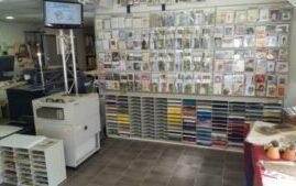 overzichtsfoto van onze drukkerij winkel